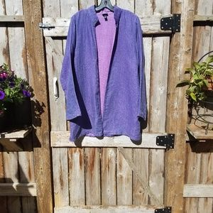 Eileen Fisher m Irish Linen Jacket Open Style